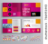 business brochure template... | Shutterstock .eps vector #766451443
