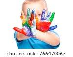 portrait of caucasian child... | Shutterstock . vector #766470067