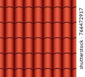 Clay Red Tiles Texture. Vector...