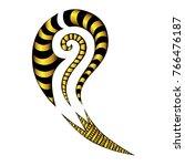tattoo tribal maori vector... | Shutterstock .eps vector #766476187