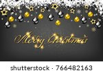golden decoration ornament with ... | Shutterstock .eps vector #766482163