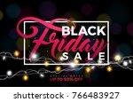 black friday sale  illustration ... | Shutterstock . vector #766483927