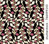 stripes vertical floral...   Shutterstock .eps vector #766499143
