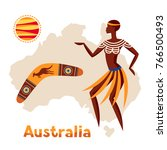 illustration of australia map...
