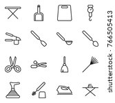 thin line icon set   iron board ... | Shutterstock .eps vector #766505413