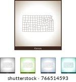 map of kansas | Shutterstock .eps vector #766514593