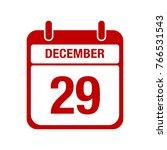 29 december calendar red icon   Shutterstock .eps vector #766531543