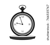 vintage pocket watch of retro... | Shutterstock .eps vector #766535767
