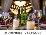 classy wedding setting.table... | Shutterstock . vector #766542787