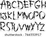 capital letters design set | Shutterstock .eps vector #766553917