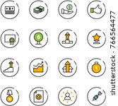 line vector icon set   dollar... | Shutterstock .eps vector #766564477