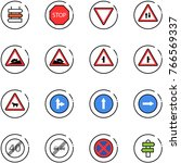 line vector icon set   sign... | Shutterstock .eps vector #766569337