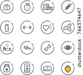 line vector icon set   doctor