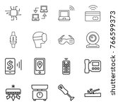 thin line icon set   chip ... | Shutterstock .eps vector #766599373