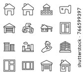 thin line icon set   home ... | Shutterstock .eps vector #766599397