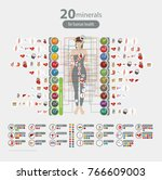 human health and minerals. 20... | Shutterstock .eps vector #766609003