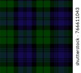 scottish plaid in green  black  ... | Shutterstock .eps vector #766611043