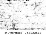grunge black and white pattern. ... | Shutterstock . vector #766623613