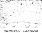 grunge black and white pattern. ... | Shutterstock . vector #766623703