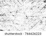grunge black and white pattern. ... | Shutterstock . vector #766626223