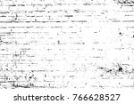 grunge black and white pattern. ... | Shutterstock . vector #766628527