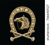 horseshoe vector horse   Shutterstock .eps vector #766640527