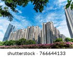 resident buildings in guangzhou ... | Shutterstock . vector #766644133