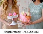 birthday cake. decorations for... | Shutterstock . vector #766655383