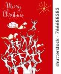 christmas card vector... | Shutterstock .eps vector #766688383