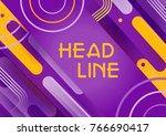 web banner or horizontal cover... | Shutterstock .eps vector #766690417