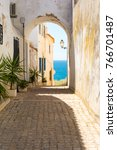 old town with sea view in...   Shutterstock . vector #766701487