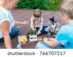 robotics class in summer in the ... | Shutterstock . vector #766707217