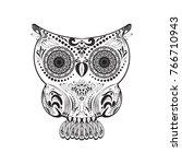 vector zentangle owl... | Shutterstock .eps vector #766710943