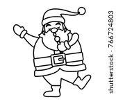 funny santa claus cartoon | Shutterstock .eps vector #766724803