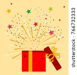 gift boxes  presents isolated... | Shutterstock .eps vector #766732333