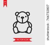 teddy bear vector icon ...   Shutterstock .eps vector #766732807