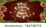 happy new year and merry...   Shutterstock .eps vector #766738723