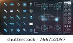 car user interface. hud ui.... | Shutterstock .eps vector #766752097