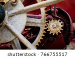 old farm machinery on a farm.... | Shutterstock . vector #766755517