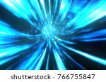 wormhole though time and space. ... | Shutterstock . vector #766755847