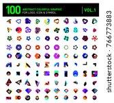 logo and icon mega collection.... | Shutterstock .eps vector #766773883