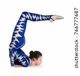 acrobat does gymnastics ... | Shutterstock . vector #766777687