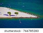 Garda Lake Strand Beach Aerial...