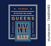 new york city typography tee... | Shutterstock .eps vector #766804483