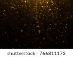 abstract gold bokeh with black... | Shutterstock . vector #766811173