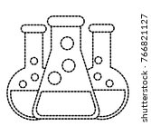 set of three flasks design | Shutterstock .eps vector #766821127
