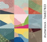 japanese pattern vector with... | Shutterstock .eps vector #766827823