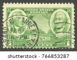 usa   stamp 1936  issue heads... | Shutterstock . vector #766853287