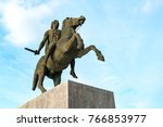 Small photo of THESSALONIKI - NOV 18: Monument to Alexander the Great in Thessaloniki on November 18. 2017 in Greece