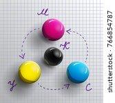cmyk icon   scheme with four